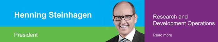 Henning Steinhagen | President, Research and Development Operations