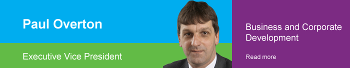 Paul Overton | Executive Vice President | Business and Corporate Development