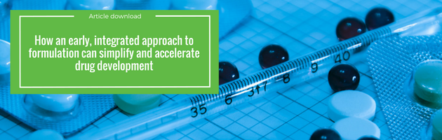 Aptuit   How an early, integrated approach to formulation can simplify and accelerate drug development