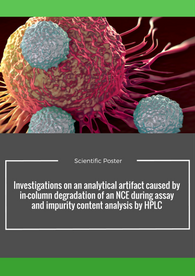 Investigations on an analytical artifact caused by in-column degradation of an NCE during assay and impurity content analysis by HPLC