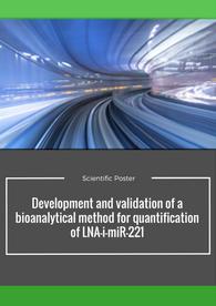 Aptuit | Development and validation of a bioanalytical method - EBF 2016