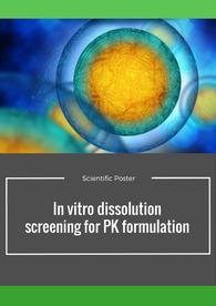 Aptuit | in vitro dissolution for PK formulation - AAPS 2016